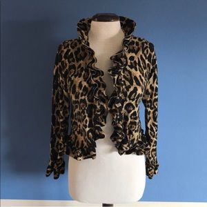 INC Cropped Leopard Blazer